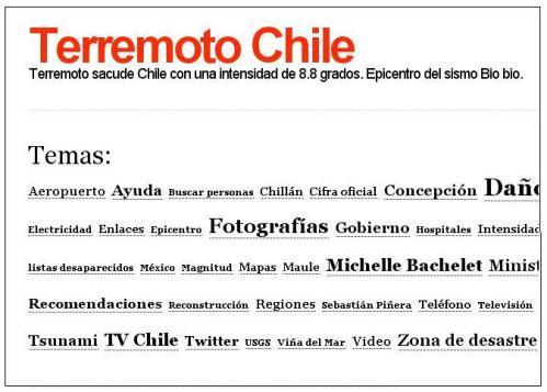 Terremoto Chile  blog oficial chile