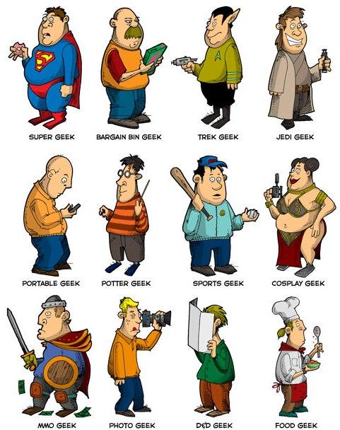 que muestra los distintos geeks que rondan en el mundo real y el ciber