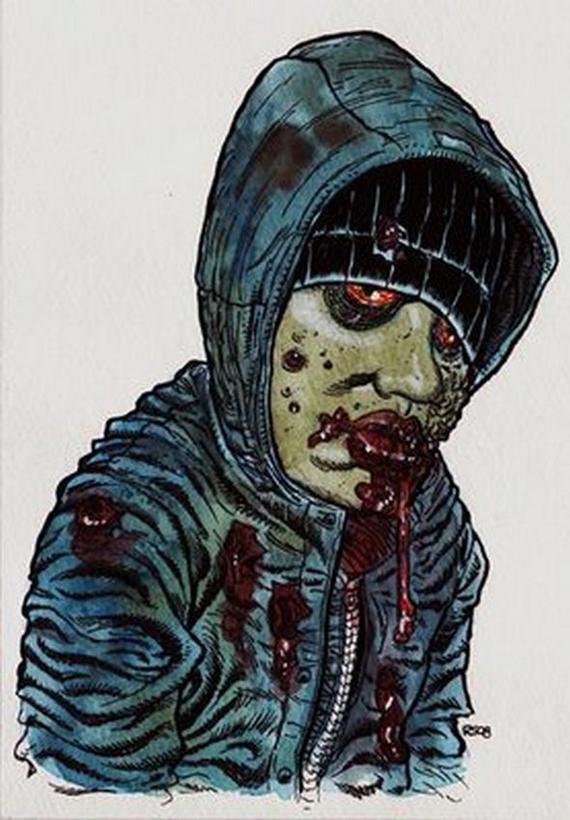 arte con zombies