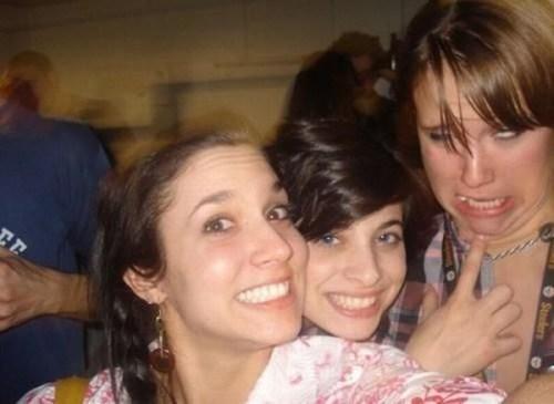 Photobombs de chicas