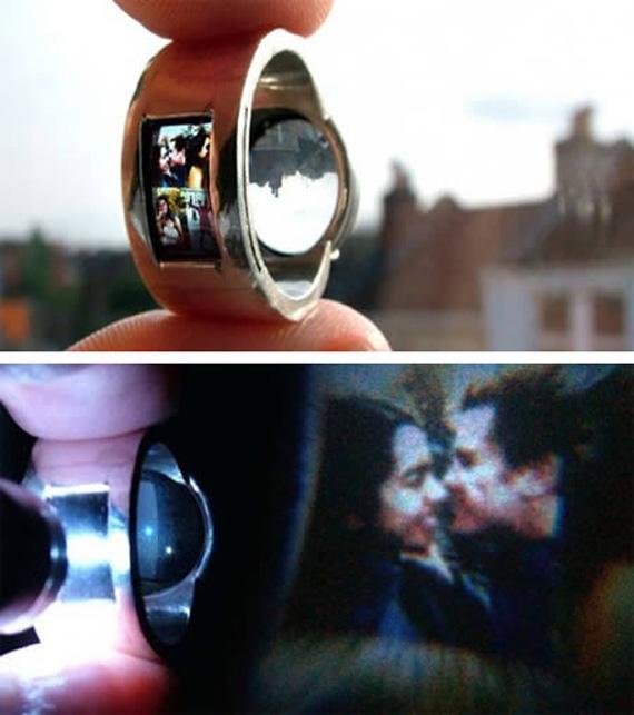 anillo con proyector