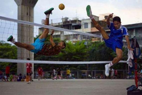 Fotoso deporte momento justo