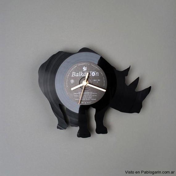 Relojes hechos con discos de vinilo blogerin - Relojes de vinilo ...