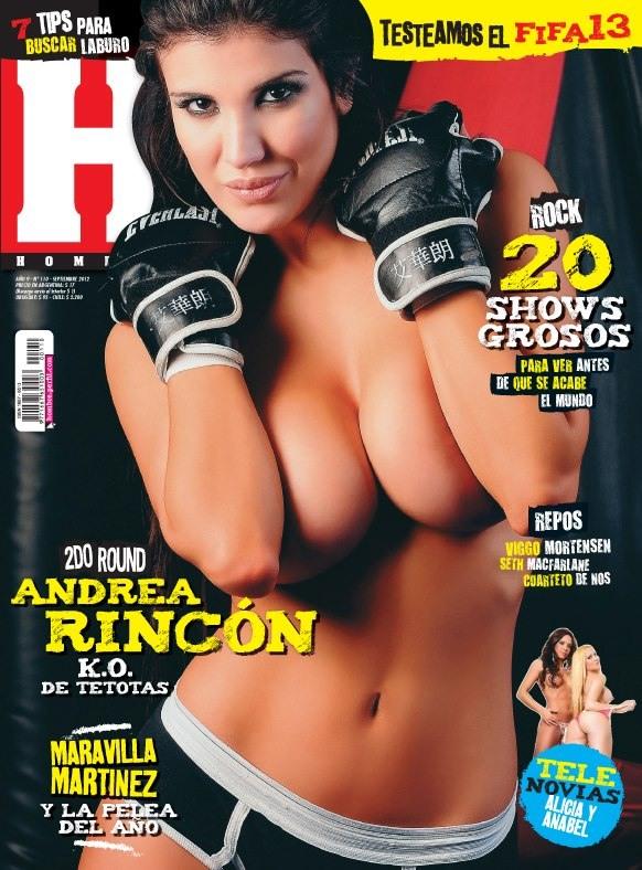 Andrea Rincon Revista Hombre Septiembre 2012