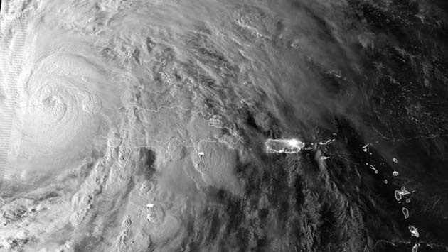 Imagen satelital huracan sandy