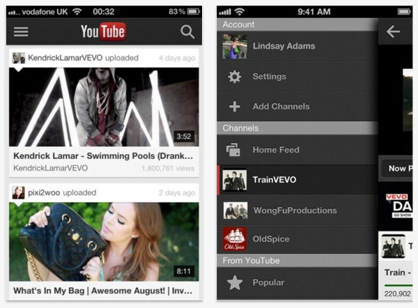 Nuevo youtube ios