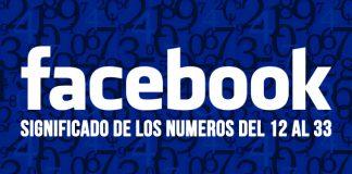 Números en facebook de 12 al 33
