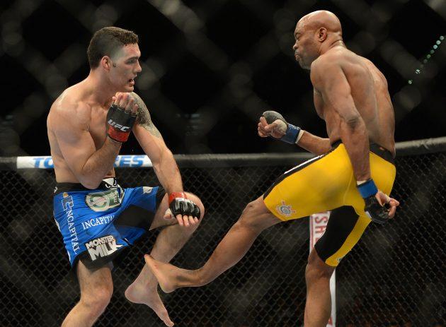 quebradura de Anderson Silva vs Chris Weidman 28/12/2013