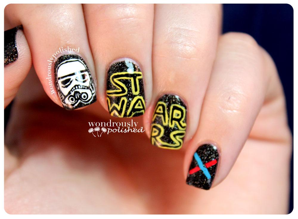 Encantador Star Wars Uñas Diseños Inspiración - Ideas de Diseño de ...