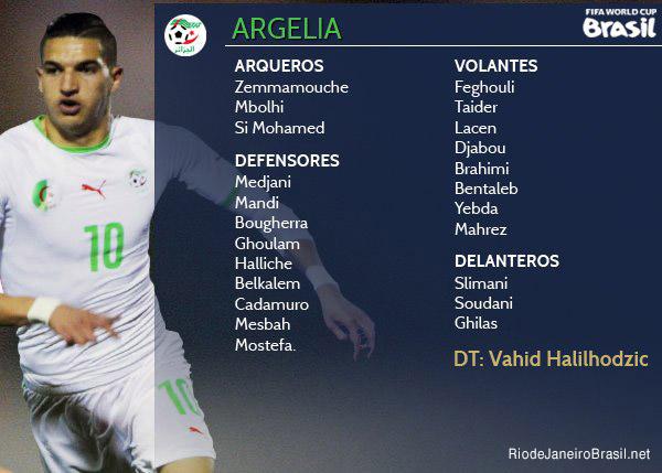 Equipo de Argelia Mundial 2014