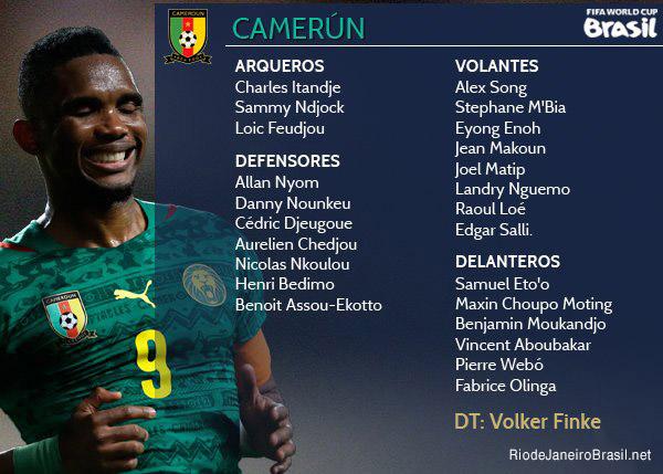Equipo de Camerun Mundial 2014