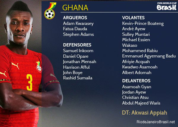 Equipo de Ghana Mundial 2014
