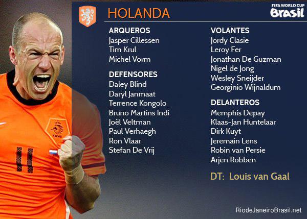 Equipo de Holanda Mundial 2014