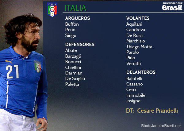 Equipo de Italia Mundial 2014